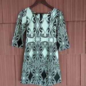 Needle & Thread Dress 3 Quarter Sleeve Grey Black